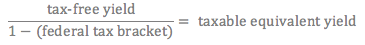 tax-free bond equation
